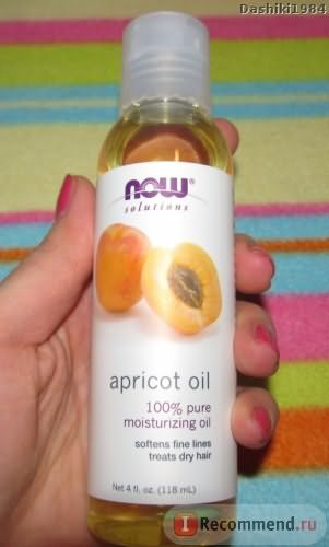 Масло Now Foods Apricot oil фото