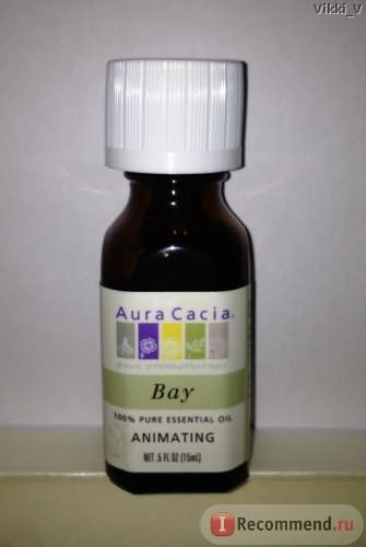 Эфирное масло Aura Cacia 100% Pure Essential Oil, Bay (Бэй) фото