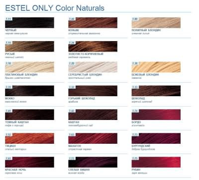 Эстель Only Color Naturals