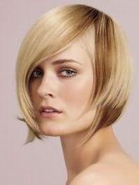 Элегантная стрижка двойное каре для прямых волос светло-русого оттенка с колорированием