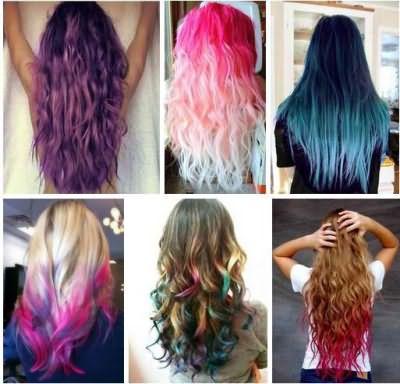 На представленных фото видно, какого потрясающего эффекта можно добиться при помощи мелков для волос