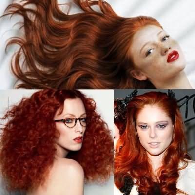 Огненно-рыжий оттенок волос многим к лицу